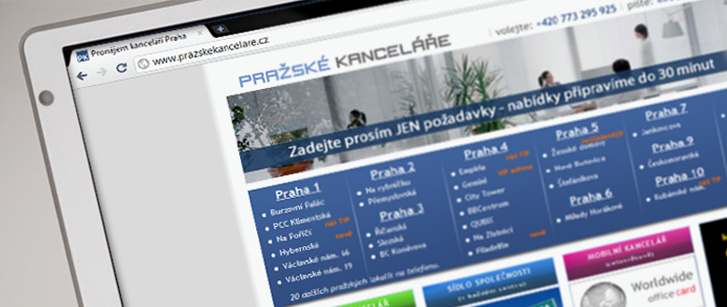 Pronájem kanceláří Praha - frontpage