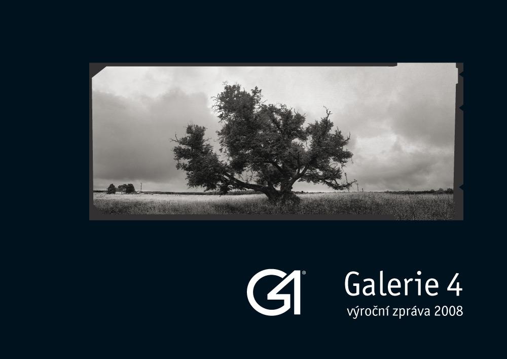 Obálka výroční zprávy pro Galerie 4