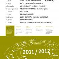 Kruh přátel hudby - plakát 2012