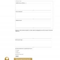 Projektový manažer - formulář