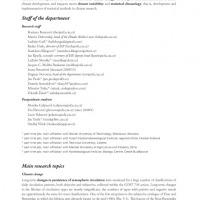 Vnitřní strana výroční zprávy pro Ústav Fyziky Atmosféry AVČR